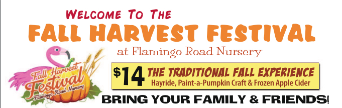Flamingo Road Nursery Fall Harvest Festival