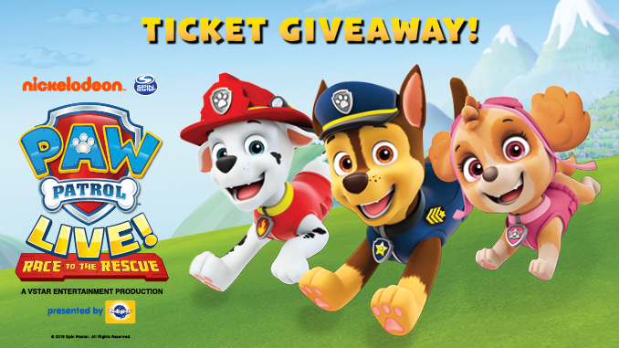 Enter to Win a Family 4-Pack of Tickets to Paw Patrol Live!