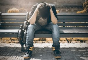 Man in chronic pain